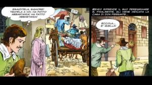 La vicenda della piccola Cecilia nella versione a fumetti de I promessi sposi disegnata da Paolo Piffarerio
