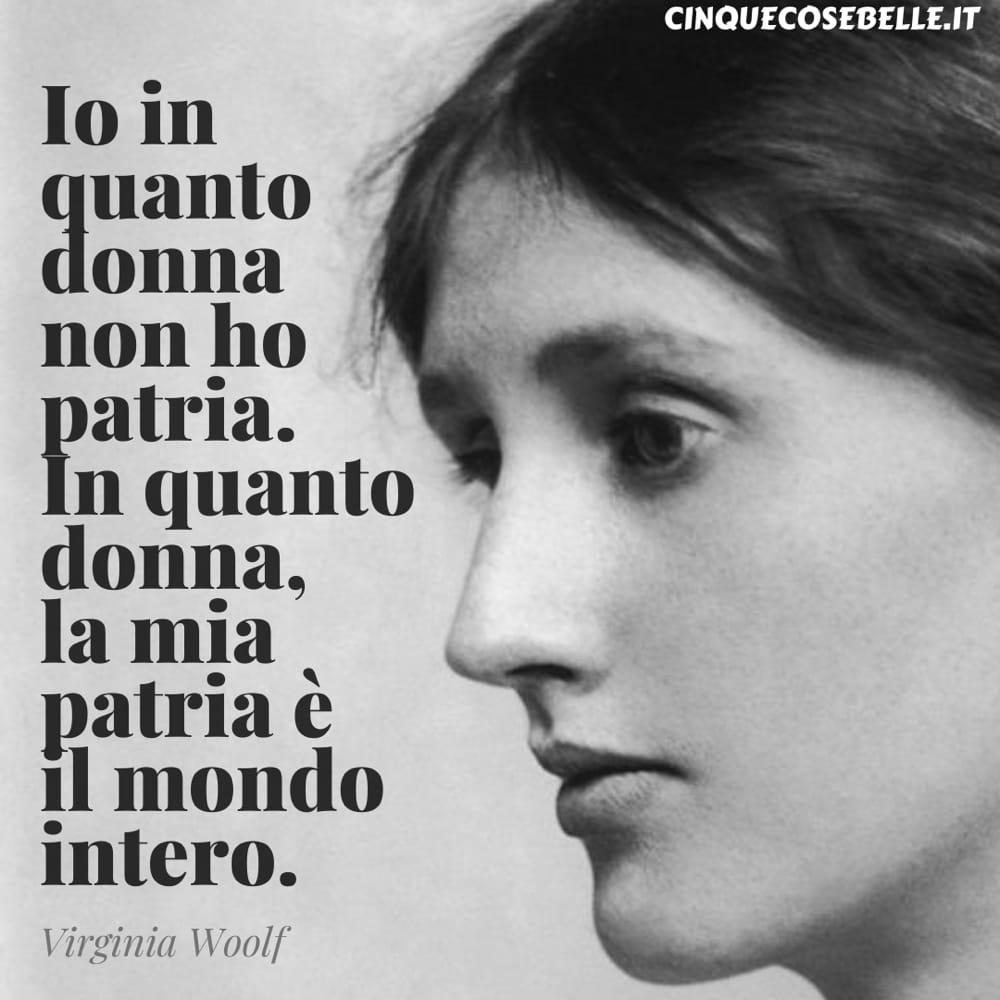 Una citazione di Virginia Woolf da Le tre ghinee