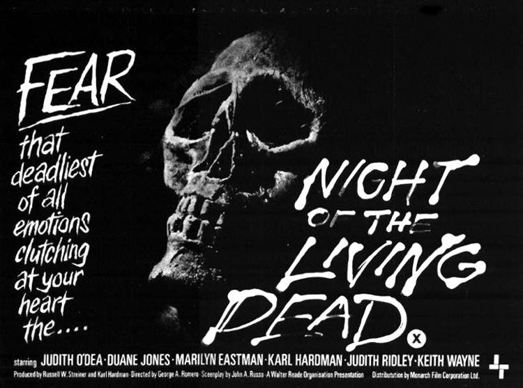 Il manifesto de La notte dei morti viventi, uno dei più famosi classici del cinema horror