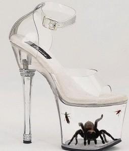 La scarpa con l'insetto incluso