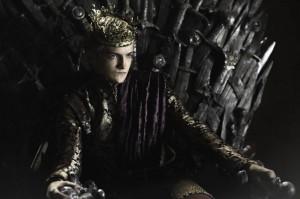 Joffrey Baratheon sull'ambito trono di spade