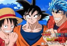 I protagonisti di One Piece, Dragon Ball e Toriko insieme in un'immagine promozionale di Shonen Jump