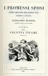 """L'edizione del 1840 de """"I promessi sposi"""" di Alessandro Manzoni"""