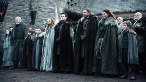 La famiglia Stark al completo