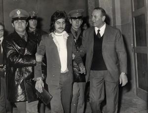 Renato Vallanzasca al suo arresto nel 1972