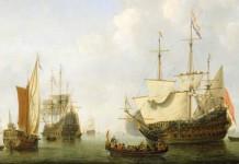 La flotta olandese attorno alla metà del Seicento in un dipinto di Willem van de Velde il Giovane