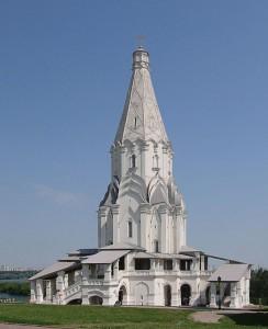 La Chiesa dell'Ascensione a Kolomenskoe (foto di Ludvig14 via Wikimedia Commons)