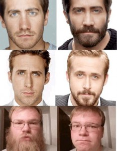 Vari esempi di barba sì, barba no