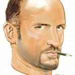 Autoritratto di Bruno Brindisi, uno dei più apprezzati disegnatori di Dylan Dog