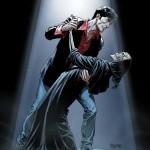 Dylan Dog danza con la morte in un bel disegno di Bruno Brindisi
