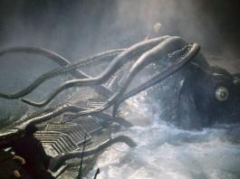 Il calamaro gigante di Ventimila leghe sotto i mari, uno dei più famosi e leggendari mostri marini della letteratura