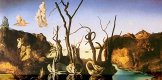 """La dimensione onirica è come sempre ben presente in """"Cigni che riflettono elefanti"""" di Salvador Dalí"""