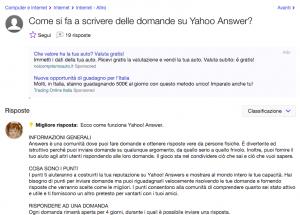 Come si fa a fare una domanda su Yahoo Answers?