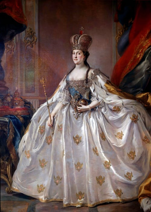 Un ritratto di Caterina la Grande