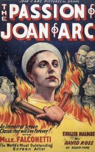 Il manifesto inglese di La passione di Giovanna d'Arco