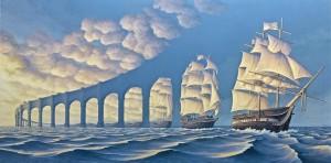 """""""The Sun Sets Sail"""" del canadese Robert Gonsalves, considerato l'erede della tradizione dei Dalí e dei Vasarely"""