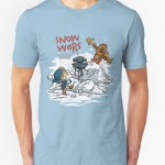 Snow Wars, incrocio di Star Wars e Calvin & Hobbes (da Redbubble)