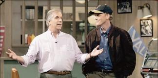 Henry Winkler e Ron Howard, ovvero Fonzie e Richie Cunningham, in una recente reunion