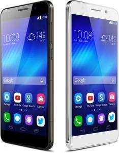 L'Honor 6 prodotto da Huawei in versione bianca e nera