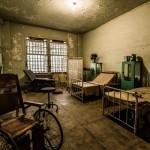 Una delle stanze dell'Hospital in the Rock, l'ospedale sotterraneo di Budapest