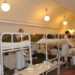 Ricostruzione storica all'interno del'Hospital in the Rock