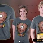 La corazza di Iron Man sotto la maglietta