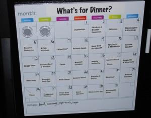 Un esempio di planner dei menù