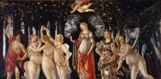 """La """"Primavera"""" di Sandro Botticelli è un'opera sicuramente influenzata dal Neoplatonismo che si respirava nella corte medicea"""