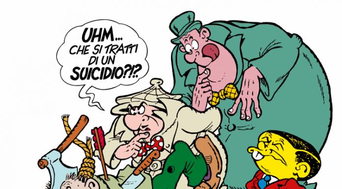Una celebre vignetta di Bonvi con Nick Carter e la sua squadra alle prese con uno dei loro soliti casi