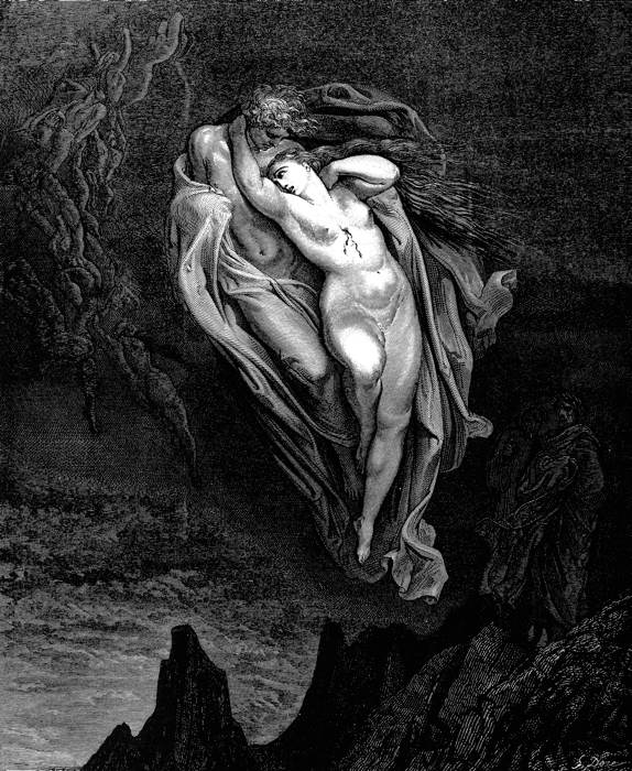Paolo e Francesca in una celebre illustrazione di Gustave Doré