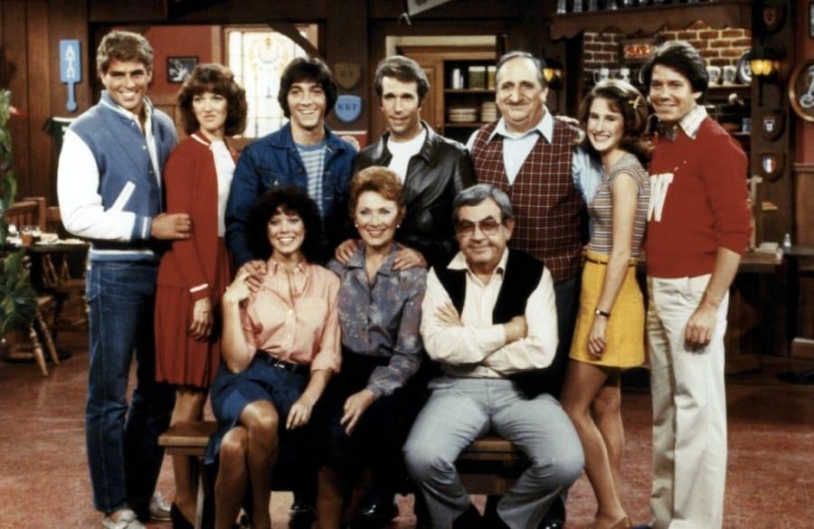 Il cast di Happy Days nelle ultime stagioni dello show
