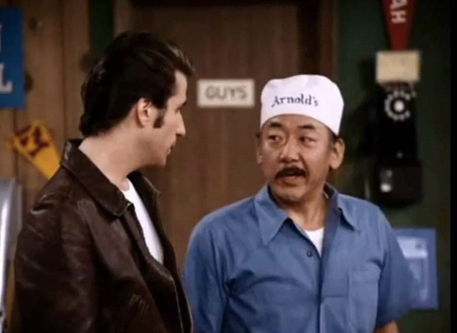 Pat Morita quando interpretava Arnold in Happy Days