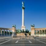 Panoramica di Piazza degli Eroi, la principale di Budapest