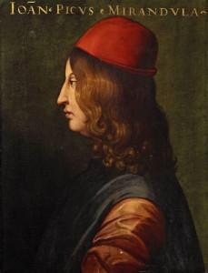 Il celebre filosofo rinascimentale Giovanni Pico della Mirandola in un ritratto a lui contemporaneo