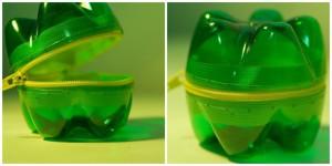 Due fondi di bottiglia di plastica e una zip bastano e avanzano per dare libero sfogo alle proprie idee di riciclo creativo