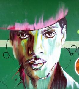 Un graffito rappresentante Prince (considerato addirittura il vegano più sexy del pianeta) a Vitoria-Gasteiz, in Spagna