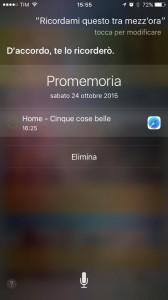 Cosa si può fare con Siri? Ad esempio, impostare dei promemoria veloci su cose in lettura ma non completate