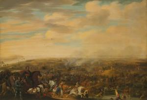 """""""Il principe Maurizio alla battaglia di Nieuwpoort"""", dipinto di Pauwels van Hillegaert su una delle fasi più importanti della rivolta olandese"""