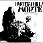 """La splash page di """"Partita con la morte"""", Dylan Dog n.66, di Claudio Chiaverotti e Corrado Roi"""