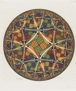 Circle Limit III, opera a colori di Escher