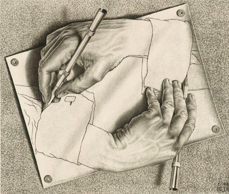 Da Drawing Hands agli altri capolavori di M.C. Escher