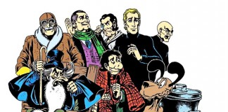 I componenti storici del gruppo TNT, protagonisti delle storie di Alan Ford