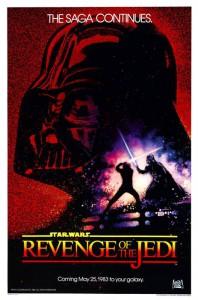 Uno dei primi poster dell'episodio VI, col titolo che poi sarebbe stato modificato