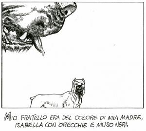 Una vignetta di Storia di Astarte, ultimo racconto di Andrea Pazienza