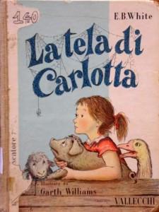La copertina della prima edizione italiana di La tela di Carlotta con le illustrazioni di Garth Williams