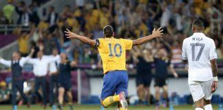 Zlatan Ibrahimovic, uno che ha abituato da tempo le platee a gol impossibili (foto di Дмитрий Неймырок via Wikimedia Commons)
