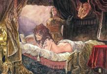 Una illustrazione di Milo Manara, che dice molto di più di quanto non sia presente nel disegno