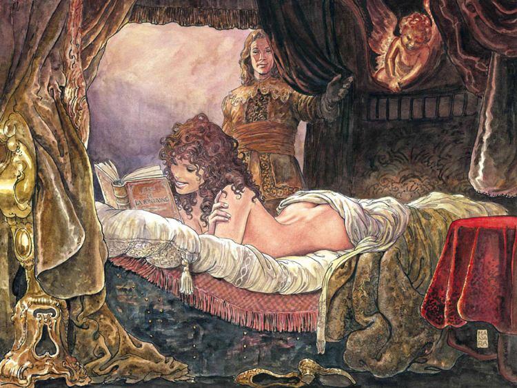 Una illustrazione di Milo Manara, uno dei maestri del fumetto erotico italiano
