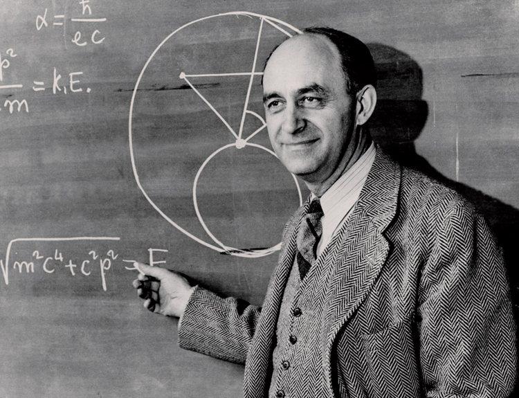 Enrico Fermi durante il periodo dell'insegnamento a Chicago, negli Stati Uniti