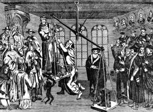 Un'incisione proveniente da Ginevra in cui si ironizza sul peso della Bibbia e della Chiesa nella salvezza